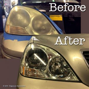 Headlamp refinishing makes your whole car look newer!
